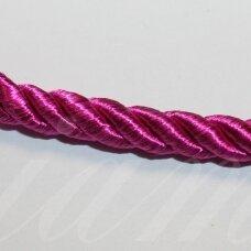 ppvgel0045 apie 4 mm, tamsi, rožinė spalva, sukta virvutė, 1 m.