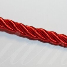 ppvgel0124 apie 3 mm, raudona spalva, sukta virvutė, 1 m.