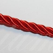 ppvgel0124 apie 5 mm, raudona spalva, sukta virvutė, 1 m.