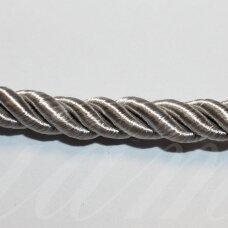 ppvgel0104 apie 4 mm, sidabrinė spalva, sukta virvutė, 1 m.