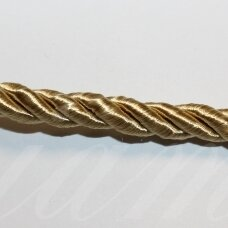 ppvgel0053 apie 3 mm, šviesi, auksinė spalva, sukta virvutė, 1 m.