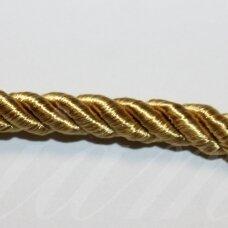 ppvgel0156 apie 4 mm, auksinė spalva, sukta virvutė, 1 m.