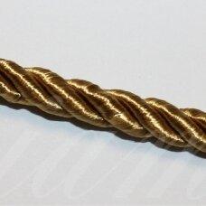 ppvgel0149 apie 5 mm, auksinė spalva, sukta virvutė, 1 m.