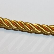 ppvgel0146 about 4 mm, gold color, twisted rope, 1 m.