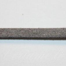 zj0003-1.5x2.5 apie 1.5 x 2.5 mm, pilka spalva, zomšinė juostelė, 1 m.