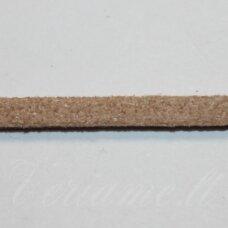 zj0031-1.5x2.5 apie 1.5 x 2.5 mm, šviesi, ruda spalva, zomšinė juostelė, apie 1 m.