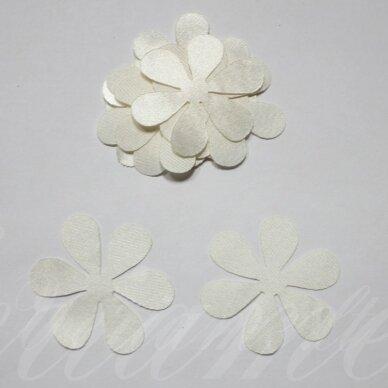 atl0005-gel-53x53 apie 53 x 53 mm, gėlytės forma, gelsva spalva, atlasas, 10 vnt.