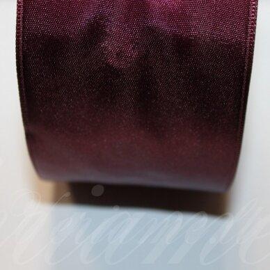 J0156 apie 10 mm, bordo spalva, atlasinė juostelė, 10 m.