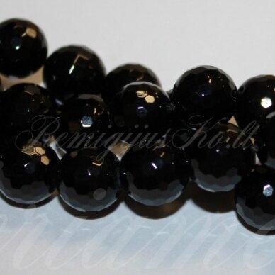 jskaon-apv-br1-10 apie 10 mm, apvali forma, briaunuotas, oniksas, apie 38 vnt.