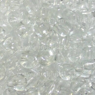 LB0001-08 apie 3 mm, apvali forma, skaidrus, apie 450 g.