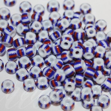 PCCB03390-04/0 4.8 - 5.3 mm, apvali forma, marga, apie 50 g.
