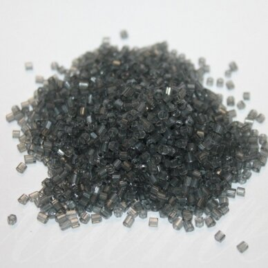 pccb31001/40010-10/0 2.2 x 2 mm, pailga forma, skaidrus, pilka spalva, apie 50 g.