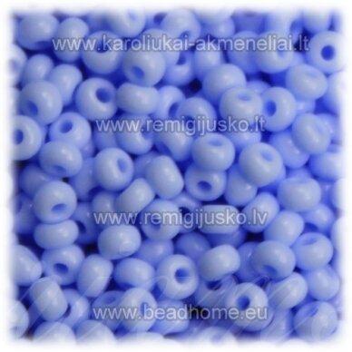 pccb33000-13/0 1.6 - 1.8 mm, apvali forma, melsva spalva, apie 50 g.