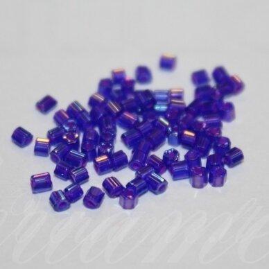 PCCB351/31001/34057-09/0 2.4 x .4 mm, pailga forma,  violetinė spalva, AB danga, apie 50 g.
