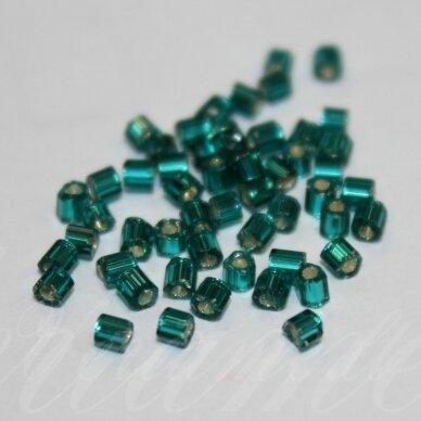 PCCB351/31001/57710-08/0 2.4 x 2.4 mm, pailga forma, tamsi, žalia spalva, viduriukas su folija, apie 50 g.