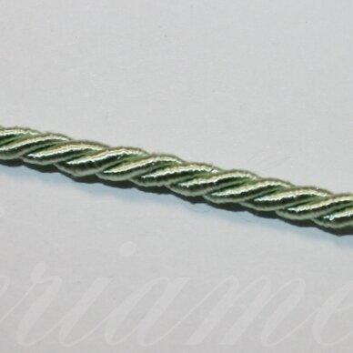 ppvgel0025 apie 4 mm, šviesi, salotinė spalva, sukta virvutė, 1 m.
