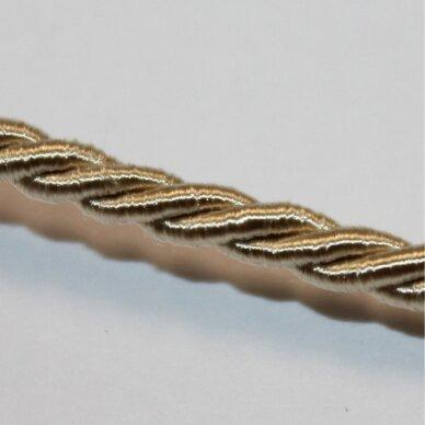ppvgel0153 apie 4 mm, kreminė spalva, sukta virvutė, 1 m.