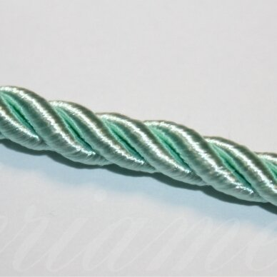 ppvgel0159 apie 4 mm, šviesi, žalia spalva, sukta virvutė, 1 m.