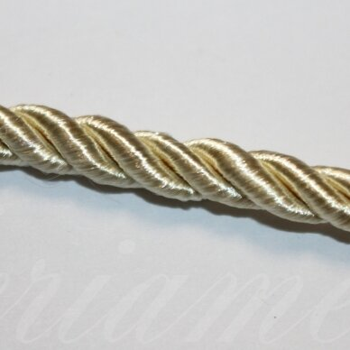 ppvgel0138 about 4 mm, light, light yellow color, twisted rope, 1 m.