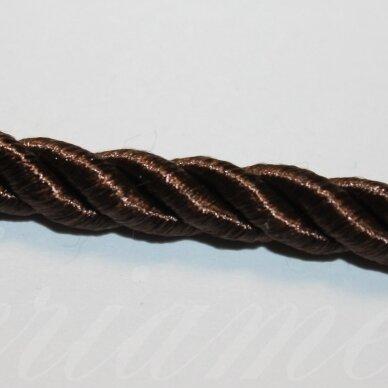 ppvgel0038 apie 4 mm, tamsi, ruda spalva, sukta virvutė, 1 m.