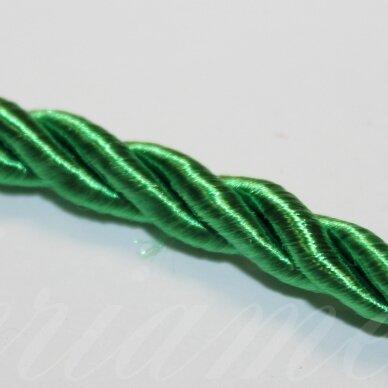 ppvgel0065 apie 4 mm, žalia spalva, sukta virvutė, 1 m.