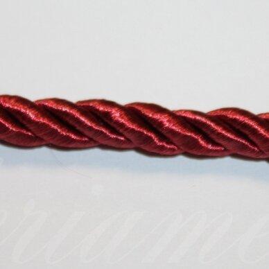 ppvgel0177 apie 4 mm, vyšninė spalva, sukta virvutė, 1 m.