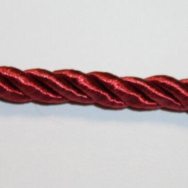 ppvgel0177 apie 8 mm, vyšninė spalva, sukta virvutė, 1m.