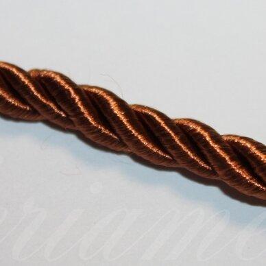ppvgel0068 apie 4 mm, ruda spalva, sukta virvutė, 1m.