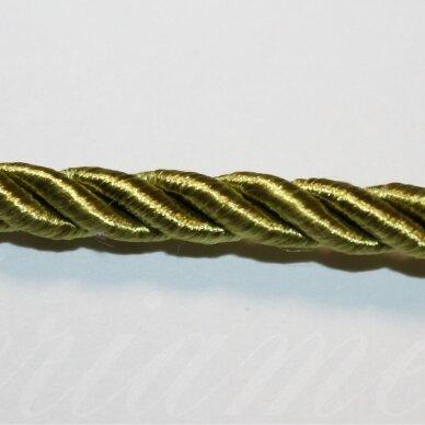 ppvgel0050 apie 4 mm, šviesi, samaninė spalva, sukta virvutė, 1 m.