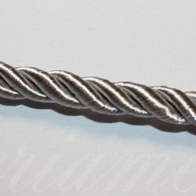 ppvgel0152 apie 4 mm, šviesi, pilka spalva, sukta virvutė, 1 m.