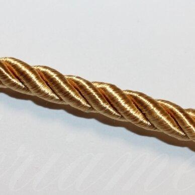 ppvgel0042 apie 4 mm, tamsi, geltona spalva, sukta virvutė, 1 m.