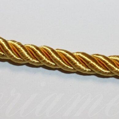 ppvgel0146 apie 3 mm, auksinė spalva, sukta virvutė, 1 m.
