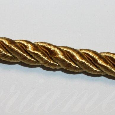 ppvgel0147 apie 8 mm, auksinė spalva, sukta virvutė, 1 m.