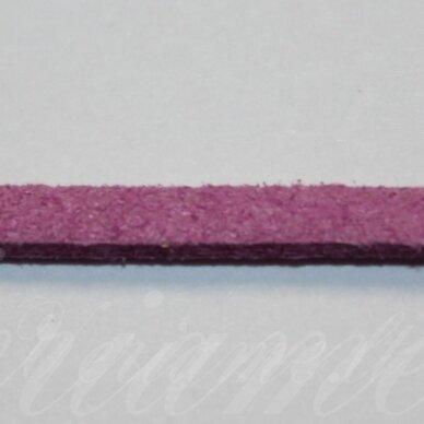 zj0024-1.5x2.5 apie 1.5 x 2.5 mm, alyvinė spalva, zomšinė juostelė, apie 1 m.