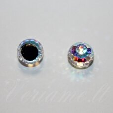 4869-Faceted Disco Ball Fancy-Crystal AB Comet Argent Light (001 AB CAL)-8 mm, 1 vnt.