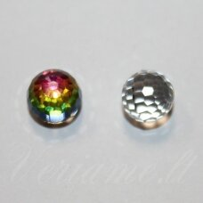 4869-Faceted Disco Ball Fancy-Crystal Vitrail Medium (001 VM)-8 mm, 1 vnt.