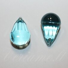 6026-Cabochette Pendant- Light Turqouise (263)-13x8 mm, 1 vnt.