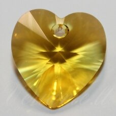 6228-xilion heart pendant-sunflower (292)-14.4x14 mm, 1 vnt.