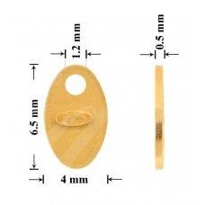 925 Sidabrinė plokštelė prabai 6.5mm padengta auksu (5 vnt)