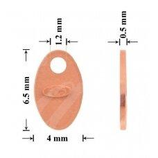 925 Sidabrinė plokštelė prabai 6.5mm padengta rausvu auksu (5 vnt)