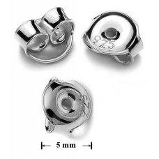 925 sidabriniai auskarų fiksatoriai 5mm (4 vnt)