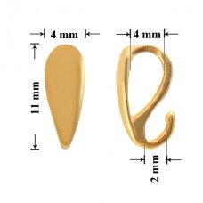 925 Sidabrinis laikiklis su atvira kilpute 11x4mm padengtas auksu