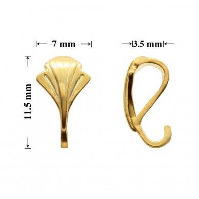 925 Sidabrinis laikiklis su atvira kilpute 11.5x7mm padengtas auksu