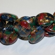jskaa0127-disk-20x6 about 20 x 6 mm, disk shape, agate, 20 pcs.