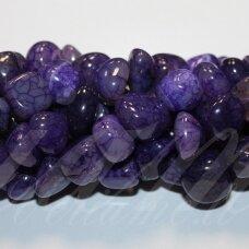 jskaa0920-net3-11x12x10 apie 11 x 12 x 10 mm, netaisyklinga forma, marga, violetinė spalva, agatas, apie 34 cm.