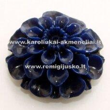 akr0013 about 24 x 12 mm, blue color, acrylic flower, 1 pc.