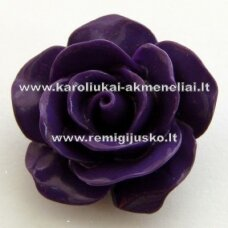 akr0017 about 22 x 13 mm, purple color, acrylic flower, 1 pc.