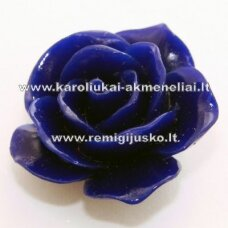 akr0018 about 22 x 13 mm, dark, blue color, acrylic flower, 1 pc.