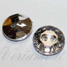 akr0023 (butt-a013-24l-01) 4 x 15 mm, transparent, silver color, acrylic button, 1 pc.
