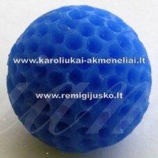 akr0025 about 20 mm, blue color, acrylic pendant, 1 pc.